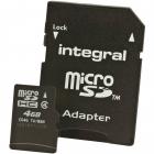 Card memorie micro SDHC 4 GB clasa 4 Adaptor