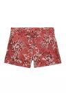 Pantaloni scurti din amestec de in cu imprimeu floral