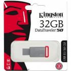 Stick USB 3 1 32 GB Kingston Data Traveler DT50 32GB silver red