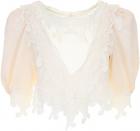 Saint Laurent Silk And Lace Blouse