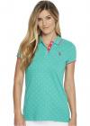 U S POLO ASSN Stretch Pique Dot Print Polo Shirt