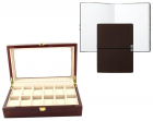 Set cutie 12 ceasuri lemn Brown Wood si Note pad Hugo Boss personaliza