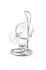 Silver Single Mosso Cognac Warmer by Chinelli Made in Italy