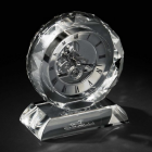 Ceas Crystal Round with Base by Chinelli Made in Italy