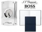 Set Maxijet Cigar Cutter S T Dupont si Note Pad Blue Hugo Boss