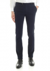 Dark Blue Stretch Cotton Trousers