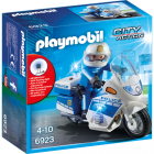 Set Playmobil City Action Police Motocicleta Politiei cu Led