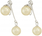 Vince Camuto Pearl Front Back Clip Earrings