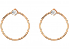 Vince Camuto Medium Frontal Hoop w CZ Earrings
