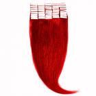 Tape In Par Natural 50cm 40suv 100gr Rosu Aprins RED