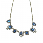 Colier cu cristale acrilice albastre
