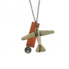 Colier lung pandantiv avion