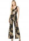 Ity Rose Foil Printed Sleeveless Jumpsuit w Surplus Detail Asymmetrica