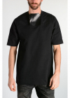 Rick Owens PLACKET Tee with Leather Silk Details