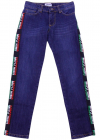 Little Marc Jacobs 5 Pocket Blue Jeans With Stripes