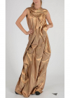 Long Dress with Pleat