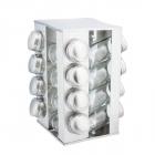 Set de recipiente pentru condimente KingHoff 17 piese suport patrat