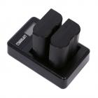 Doua baterii si incarcator dual Widjit pentru DSLR Nikon EN EL15 Negru