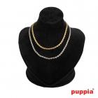 Puppia lantisor Twist Chain Marime M Culoare Galben
