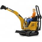 Excavator Micro JCB 8010 CTS cu figurina