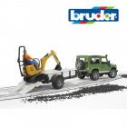 Land Rover cu Microexcavator JCB