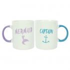 Set cadou 2 cani ceramice Captain Mermaid