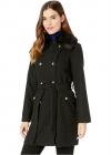 Wool Coat w Faux Fur