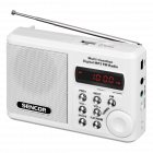 Aparat radio SRD215W portabil 2 W USB Micro SD alb