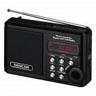 Aparat radio Sencor SRD215B portabil 2 W USB micro SD negru