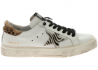 Golden Goose May White Sneakers With Calfhair Details