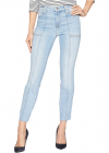 7 For All Mankind Roxanne Ankle w Paneled Seams Cut Off Hem in Vintage