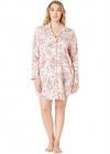 Ralph Lauren Plus Size Classic Knit Long Sleeve Notch Collar Sleepshir