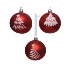 Glob decorativ Christmas Snow Tree Red mai multe modele