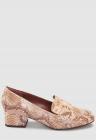 Pantofi loafer de piele ecologica cu model reptila