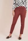 Pantaloni slim fit cu lungime crop