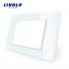 Rama priza tripla LIVOLO din sticla 8211 standard italian