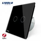 Intrerupator dublu cu touch Livolo din sticla 8211 protocol ZigBee