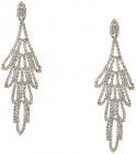 GUESS Rhinestone Chandelier Drop Earrings Crystal