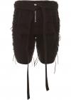 Gabardine Shorts With Laces