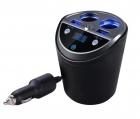 Modulator Fm Auto Tip Pahar A18S cu Display Led Bluetooth 4 0 Car Kit