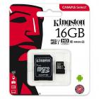 Card micro SDHC Kingston CANVAS Select SDCS 16GB 16GB Class U1