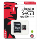 Card micro SDXC Kingston CANVAS Select SDCS 64GB 64GB Class U1
