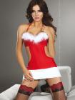Costum Santas Coming Rosu