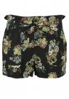 Pantaloni scurti Pull and Bear Floral Black