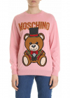 Moschino Pink Teddy Bear Pullover With Inlay