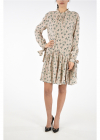 Prada Frilled Printed Silk Dress