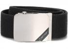 Calvin Klein 4cm Adj Webbing Plaque Belt