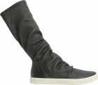 Stretch Leather High Top Sneakers