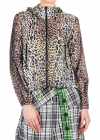 Outdoor jacket with leopard print