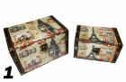Set 2 cutii depozitare diverse imprimeuri